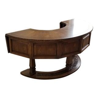 Romweber Semi Circular Viking Oak Hunt Desk