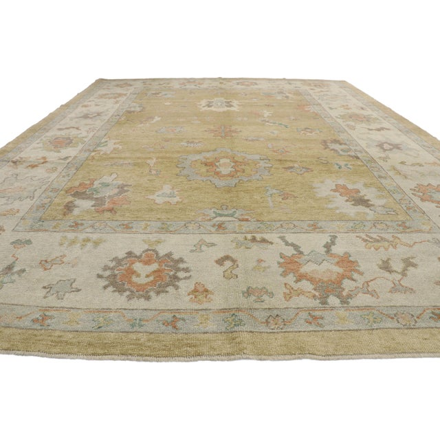 Contemporary Contemporary Turkish Oushak Rug - 10′2″ × 13′2″ For Sale - Image 3 of 10