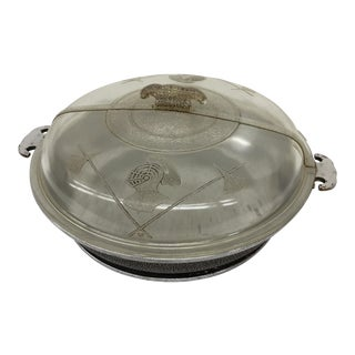 Antique Glass Covered Frying Pan For Sale