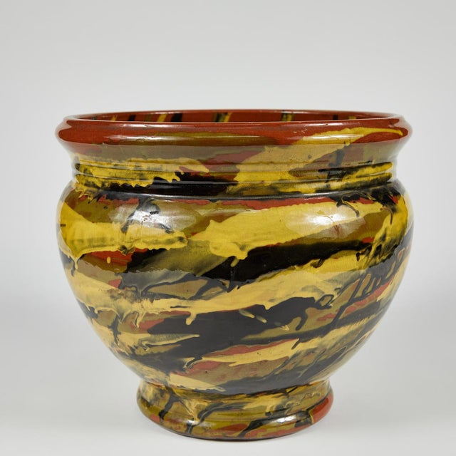 Peters and Reed Glazed Pottery Vase For Sale - Image 4 of 6