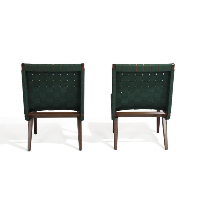 Green Jens Risom for Knoll Studio Lounge Chairs For Sale - Image 8 of 11
