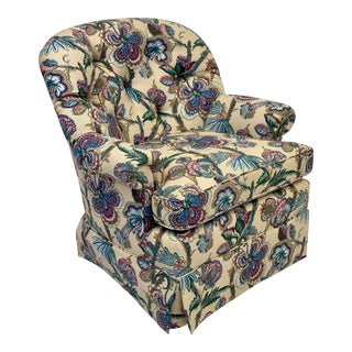 Late 20th Century Hickory Chair Holly Tufted Accent Chair For Sale