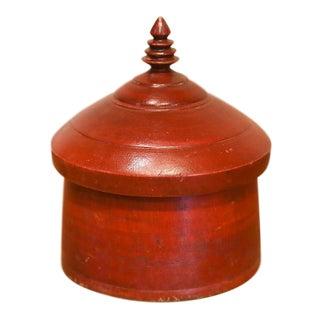 Vibrant Red Temple Tikka Box For Sale
