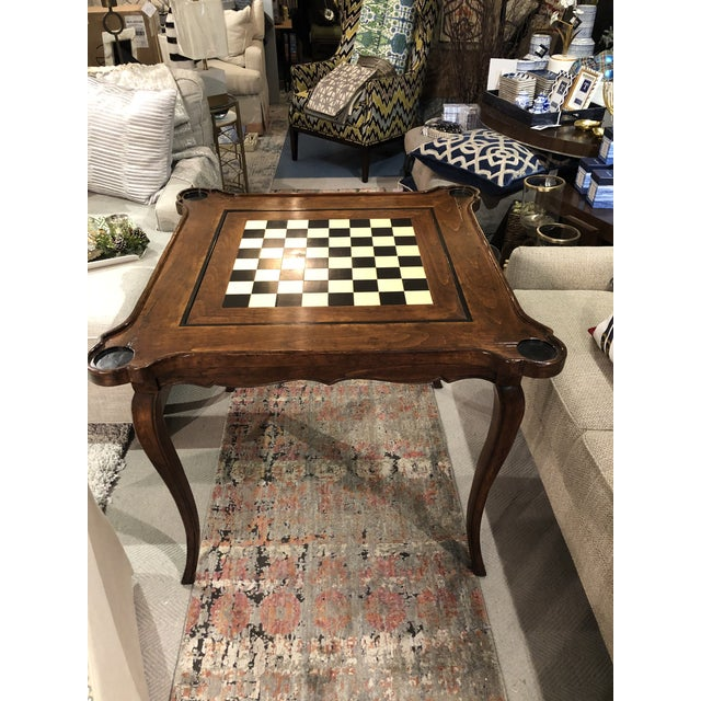 Traditional Sterling Collection French Game Table For Sale In Chicago - Image 6 of 11