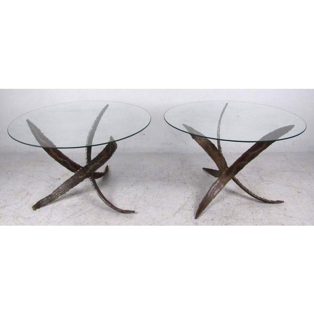 Mid-Century Modern Mid-Century Paul Evans Style End Tables - a Pair For Sale - Image 3 of 6