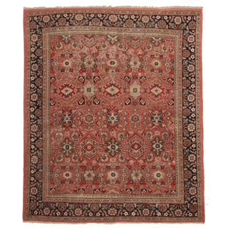 "Persian Mahal Wool Rug - 9'1"" X 10'5"" For Sale"