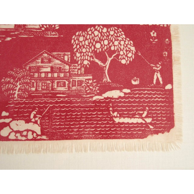 """1940s Folly Cove """"Head of the Cove"""" Hand Block Print For Sale - Image 5 of 9"""