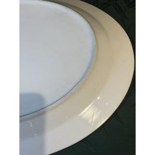 Vintage Mid-Century Modern Large Blue Plain Half Lace Large Oval Platter Preview