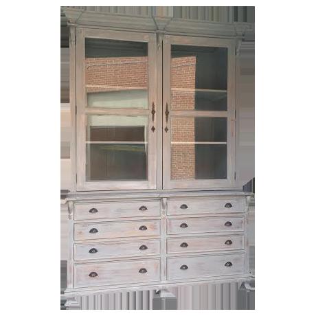 Exceptionnel Farmhouse Country Chic Linen Press Cabinet
