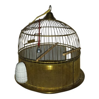 Hendryx Brass Wire Domed Bird Cage For Sale
