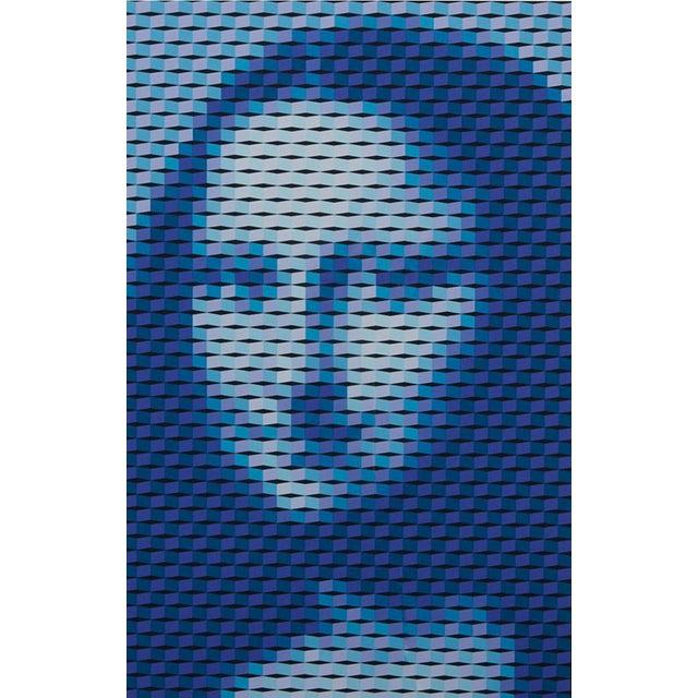 "Op Art Yvaral (Jean-Pierre Vasarely) ""Mona Lisa"" Serigraph For Sale - Image 3 of 8"