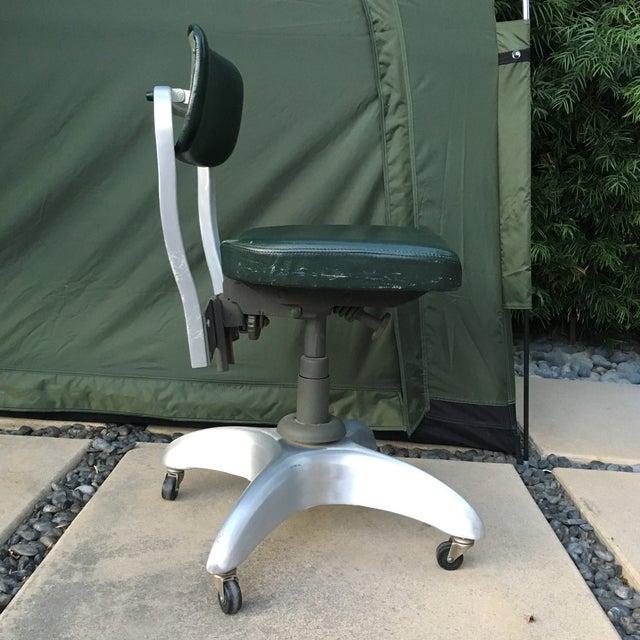vintage aluminum office chair on wheels chairish