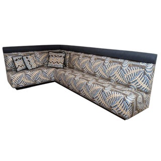 Mid-Century Modern Upholstered 2 Pc. Banquette For Sale