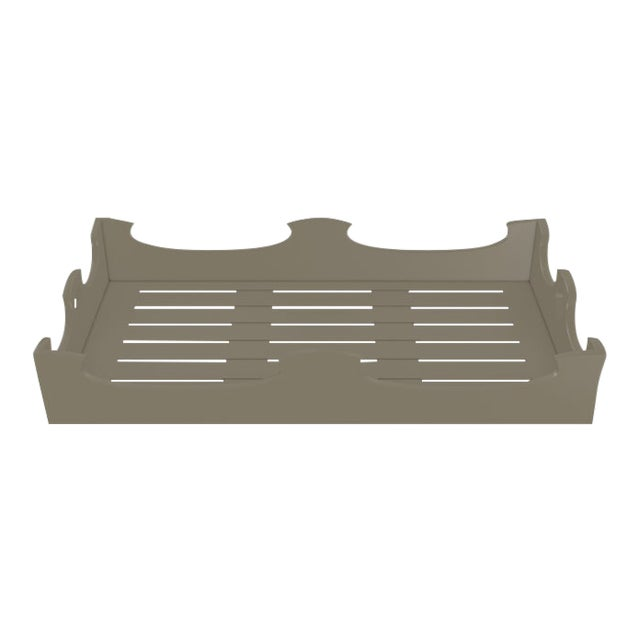 Oomph Ocean Drive Outdoor Console Tray, Taupe For Sale