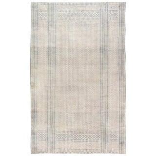 Indigo Antique Indian Cotton Flat-Weave Carpet For Sale