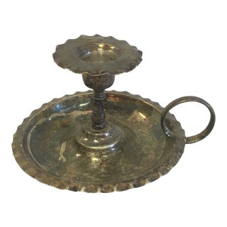 Silver Plate Candle Holder For Sale