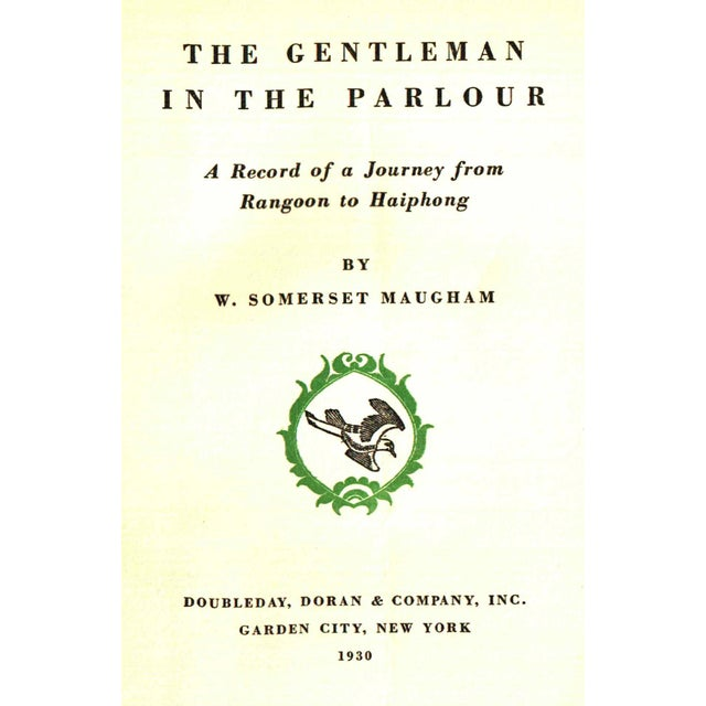 """Traditional 1930 """"First Edition, the Gentleman in the Parlour"""" Collectible Book For Sale - Image 3 of 5"""