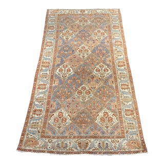 1920s Vintage Persian Bactiari Area Rug - 4′10″ × 9′6″ For Sale
