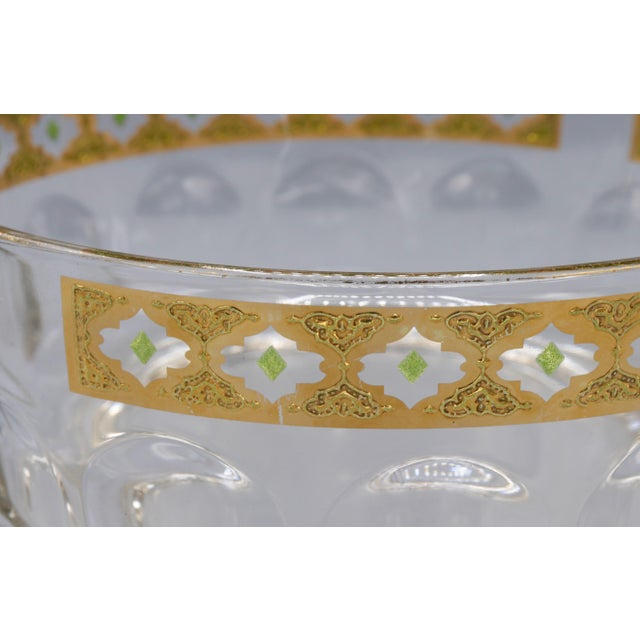 1970s 1970s French Crystal Glass Bowl with Gold Trim on Top For Sale - Image 5 of 9