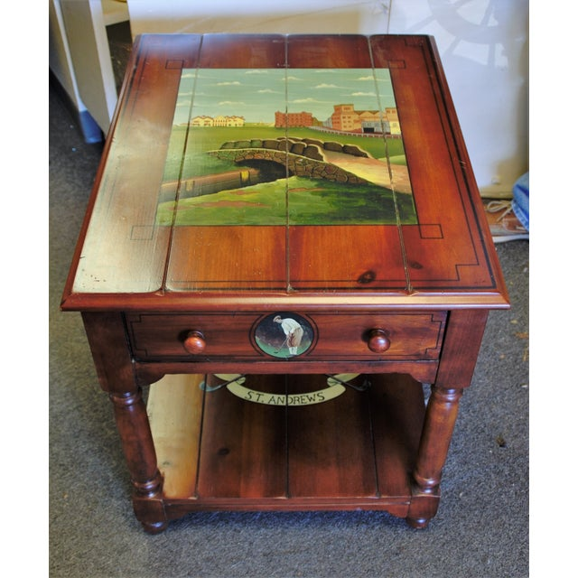"St. Andrews ""Ireland"" Golf Club Side Table For Sale In Saint Louis - Image 6 of 9"
