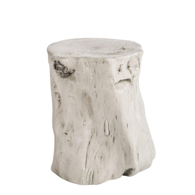 Statements By J Mia White Log Stool For Sale