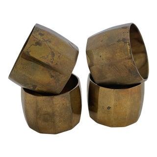 Vintage Brass Napkin Rings- Set of 4 For Sale