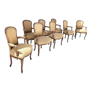 Antique Hollywood Regency French Chairs - Set of 8