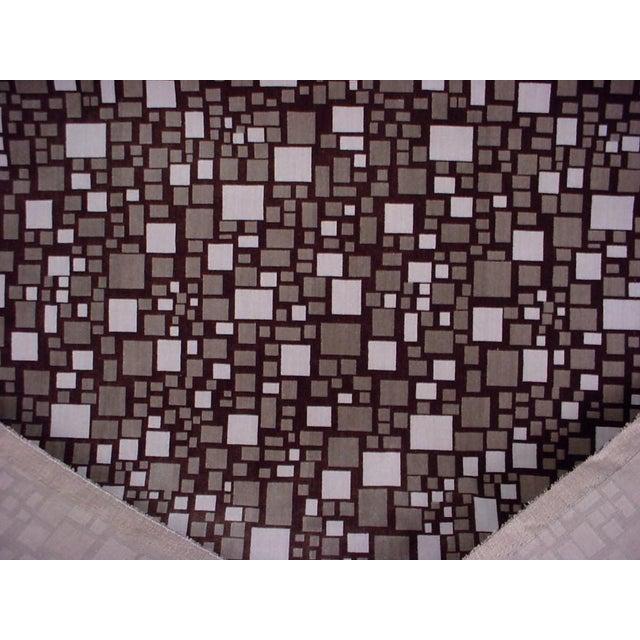 Mid-Century Modern Modern Brunschwig Et Fils Br-88173 Mosaic Velvet Bark Brown Upholstery Fabric- 12 Yards For Sale - Image 3 of 5