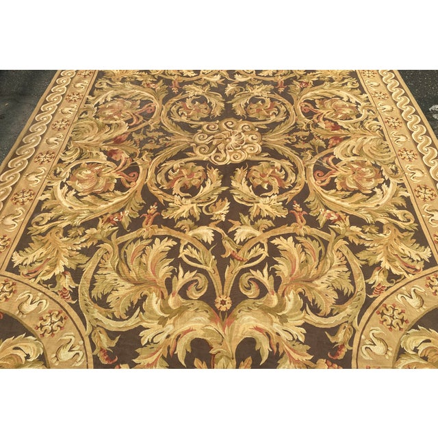 1990s Fine French Aubusson Needle Point Rug For Sale - Image 5 of 6