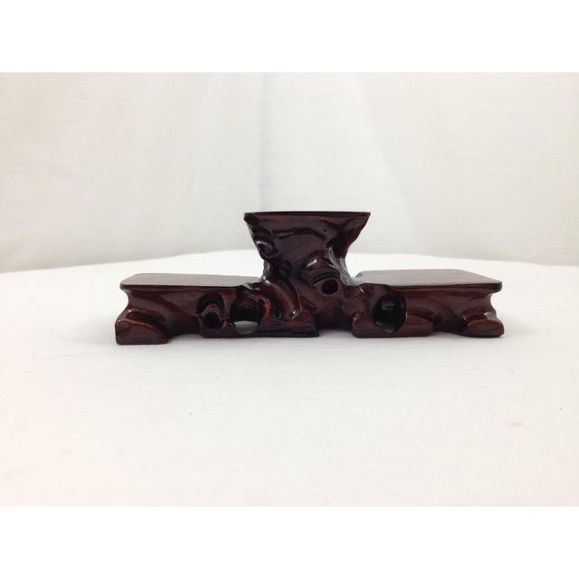 Asian Hand Carved Curiosity Stand - Image 4 of 4
