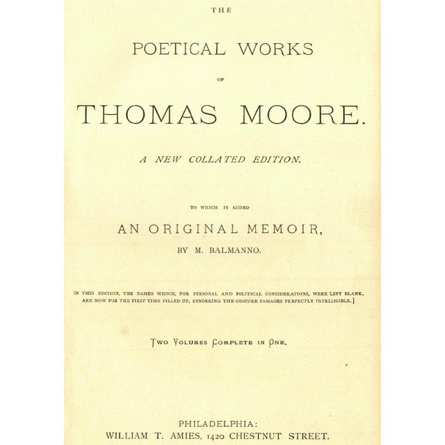 The Poetical Works of Thomas Moore - Image 2 of 4