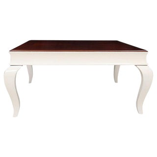 Chinoiserie Cherry Coffee Table in White For Sale