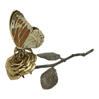 Scarborough House Butterfly Rose Card Holder For Sale