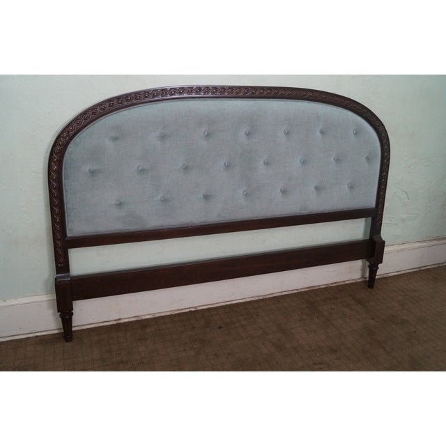 French Louis XVI Tufted Upholstered King Headboard - Image 2 of 10