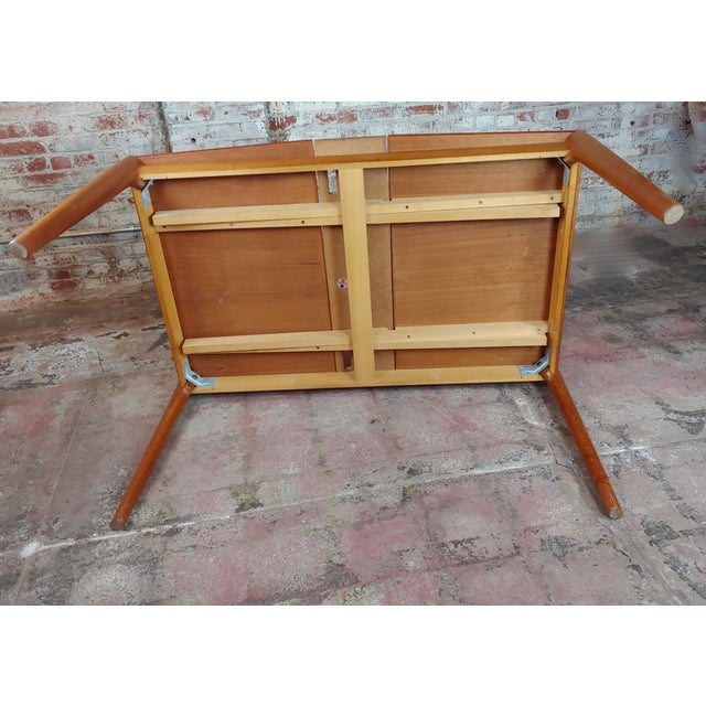 Sophisticated Danish Mid Century Teak Dining Table With 6 Chairs By