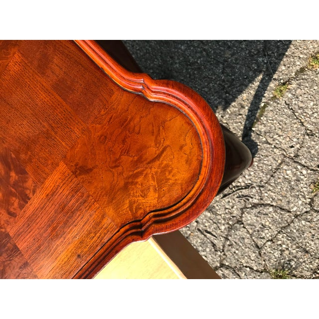Traditional Walnut Console by Hekman For Sale - Image 9 of 10