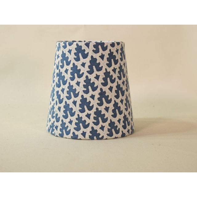 Not Yet Made - Made To Order Fortuny Blue and White Chandelier Shade For Sale - Image 5 of 5