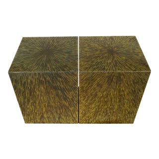 CUBE side table in titanium by Xavier Mennessier
