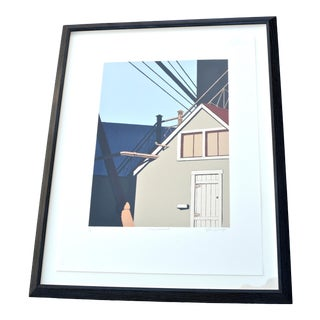 """Gretchen Dow Simpson Signed """"Fitchburg Ma"""" New Yorker Magazine Color Lithograph For Sale"""