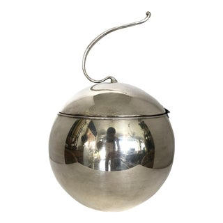 Silver on Copper Ball Ice Bucket