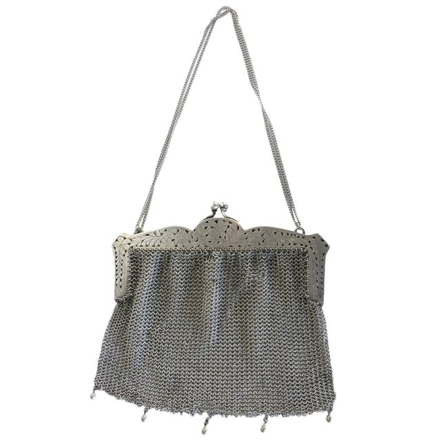 Sterling Silver Victorian Chain Mesh Purse - Image 1 of 5