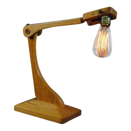 1960s Vintage Industrial Style Articulated Natural Desk Lamp For Sale