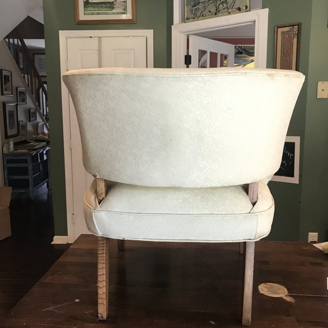 1950s Mid-Century Modern Padded Channel-Backed Club Chair For Sale - Image 4 of 9