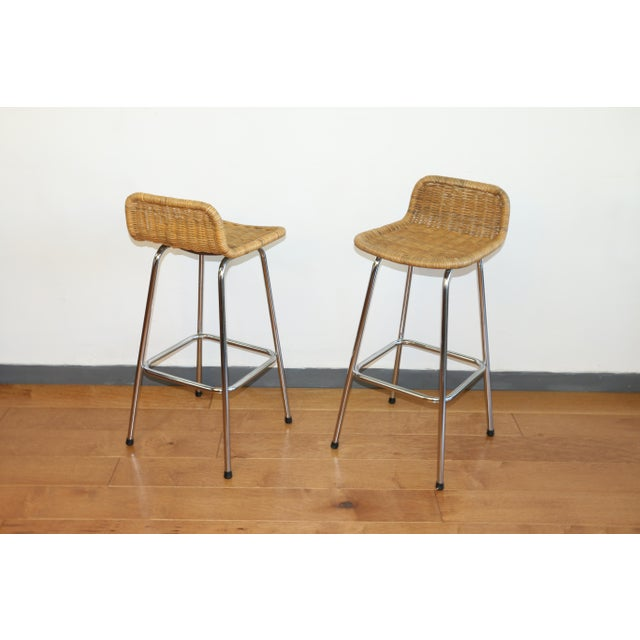 Incredible Vintage Rattan Set Of 4 Bar Stools Chairish Forskolin Free Trial Chair Design Images Forskolin Free Trialorg