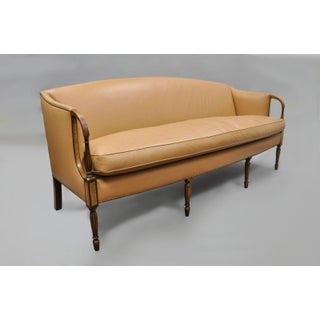 1993 Federal Style Southwood Caramel Tan Leather Sofa Preview