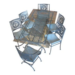 Vintage Arthur Umanoff Mayan Sun Dining Set - 7 Pieces For Sale