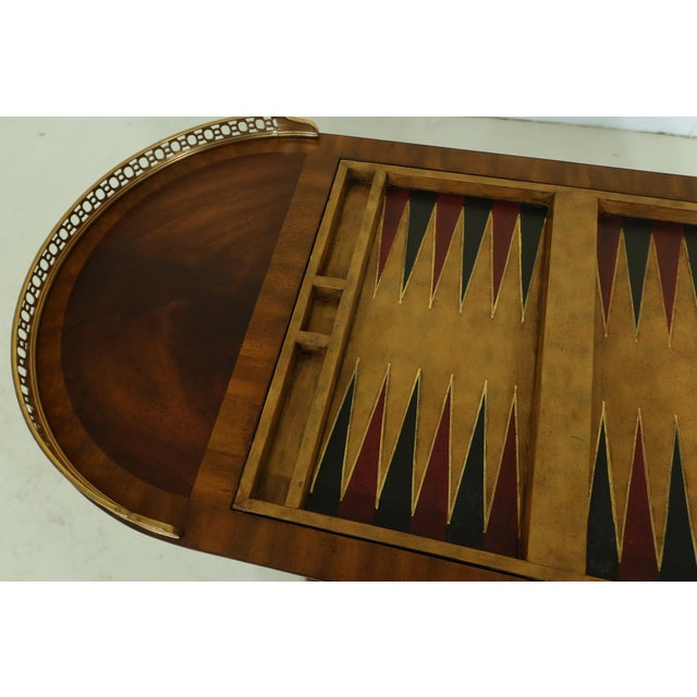 Maitland Smith Checkerboard Reversible Top Mahogany Games Table For Sale - Image 11 of 13