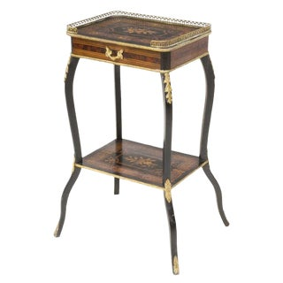 19th Century Napoleon III Mahogany Marquetry Side Table For Sale