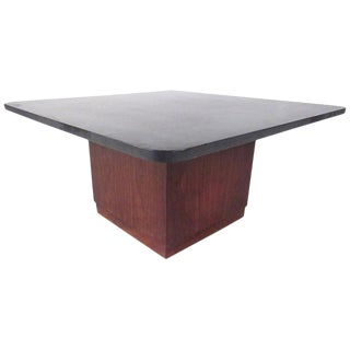 Mid-Century Modern Slate Top Coffee Table For Sale