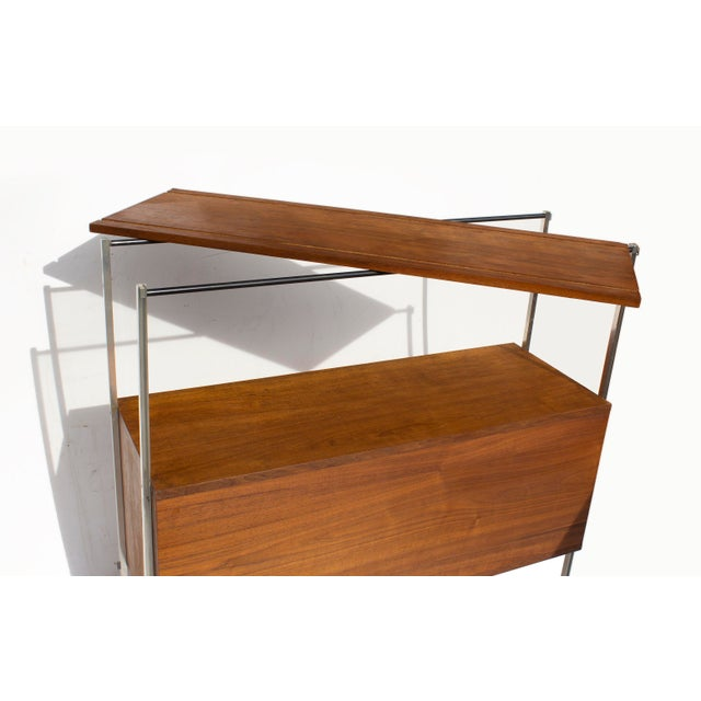 Walnut and Aluminum Cabinet by Hugh Acton For Sale - Image 11 of 13